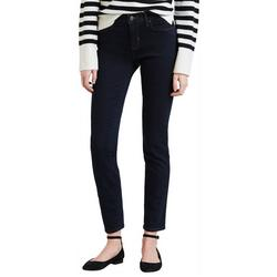 Womens Classic Mid Rise Skinny Jeans