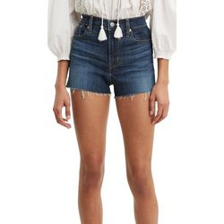 Levi's Womens 501 High Rise Cut Off Hem Denim Shorts