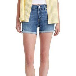 Levi's Womens Mid Length Roll Cuff Denim Shorts
