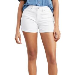 Womens Mid Length Denim Shorts
