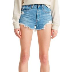 Levi's Womens 501 Original Destructed Denim Shorts