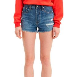 Levi's Womens High Rise Cut Off Hem Denim Shorts