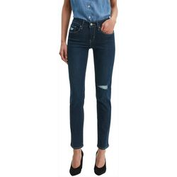 Levi's Womens Classic Mid Rise Deconstructed Skinny Jeans