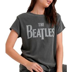 Lucky Brand Womens The Beatles Logo T-Shirt