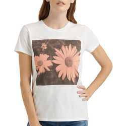 Lucky Brand Womens Screen Print Daisy T-Shirt