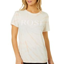 Lucky Brand Womens Rose Tie Dye Crew Neck Top