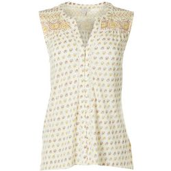 Lucky Brand Womens Floral Paisley Print Sleeveless Top