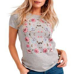 Lucky Brand Womens Framed Floral T-Shirt