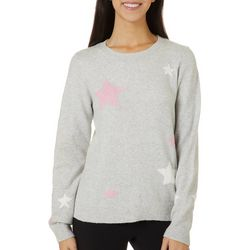 Womens Star Print Long Sleeve Pull Over Sweater