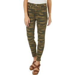 Lucky Brand Womens Ava Camo Print Denim Jeans