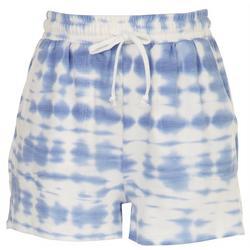Womens Tie-Dye Clouds Cozy Shorts