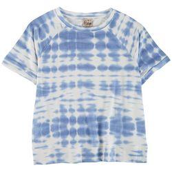 Como Vintage Womens Tie-Dye Clouds Short Sleeve Top