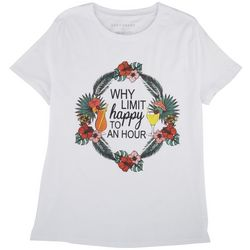 Ana Cabana Womens Why Limit Happy To An Hour T-Shirt