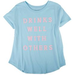 Ana Cabana Womens Quote Printed Short Sleeve Top