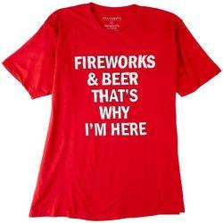 Ana Cabana Womens Fourth Of July Quote Short Sleeve Shirt
