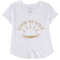 Ana Cabana Womens Good As Gold T-Shirt
