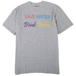 Ana Cabana Womens Save Water Drink Wine T-Shirt