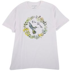 Ana Cabana Womens Free Spirit Quote and Screenprint Tshirt