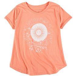 Ana Cabana Womens Sun Screen Print Round Neck T-Shirt