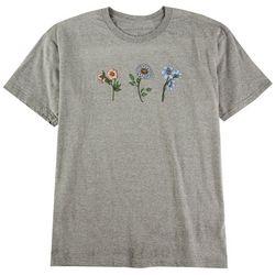 Ana Cabana Womens  Summer Flowers Crew T-Shirt