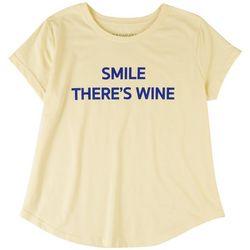 Ana Cabana Womens There's Wine T-Shirt