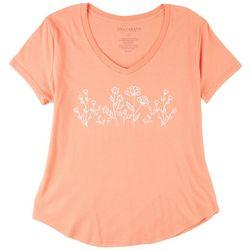Ana Cabana Womans Floral T-Shirt