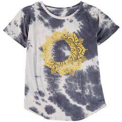 Ana Cabana Womens Shinny Mandala Tie-Dye T-Shirt
