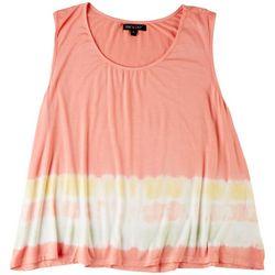 Knit & Cast Womens Tie Dye Print Sleeveless Top