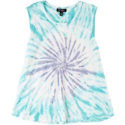 Jessica Simpson Womens Tie-Dye Printed Tank Top