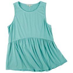 Green Envelope Womens Cupro Babydoll Sleeveless Top