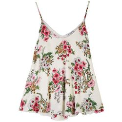 Cha Cha Vente Womens Floral Double Layer Sleeveless Top