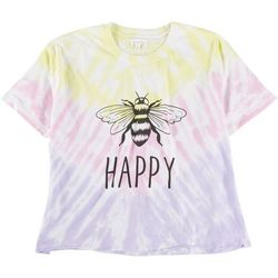 Dreamsicle Womens Bee Happy Graphic T-Shirt