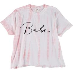 Dreamsicle Womens Babe Tie Dye Graphic Tee