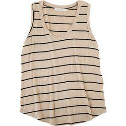 Lush Womens Striped Sleeveless Tank