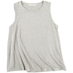 Lush Womens Solid Flowy Scoop Neck Tank Top