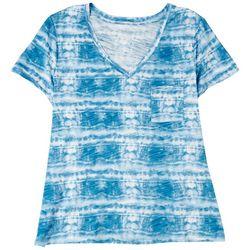 Dept 222 Womens Tie Dye Short Sleeve Top