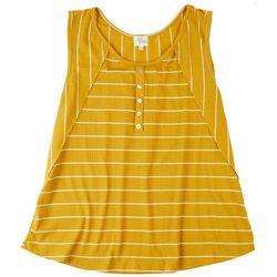 Ava James Womens Striped Sleevless Top