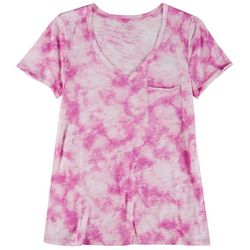 Dept 222 Womens V-Neck TIe Dye T-Shirt