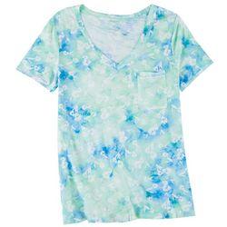 Dept 222 Womens Tie-Dye Floral T-Shirt