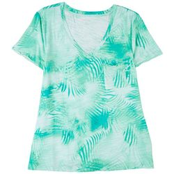 Dept 222 Womens Print Short Sleeve Top
