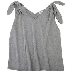 Ava James Womens Knotted Sleeves Top