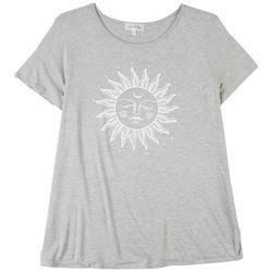 Flora & Sage Sun Screen Print Short Sleeve Top