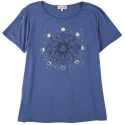 Flora & Sage Womens Moon Fases Top
