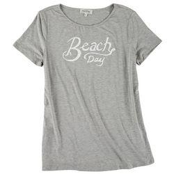 Flora & Sage Womens Beach Day T-Shirt
