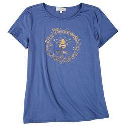 Flora & Sage Womens Foil Bee T-Shirt
