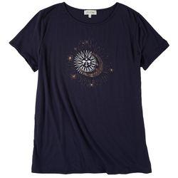 Flora & Sage Womens Sun & Moon T-Shirt