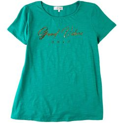 Flora & Sage Womens Sun And Moon Top