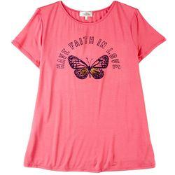 Flora & Sage Womens Have Faith In Love Tshirt