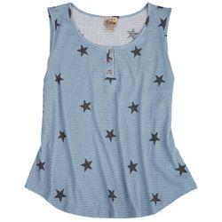 Como Vintage Womens Stars Sleevless Top