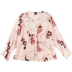 Nue Options Womens Floral Long Sleeve Top